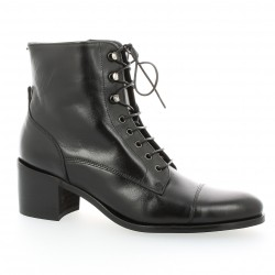 Boots cuir noir Paco valiente