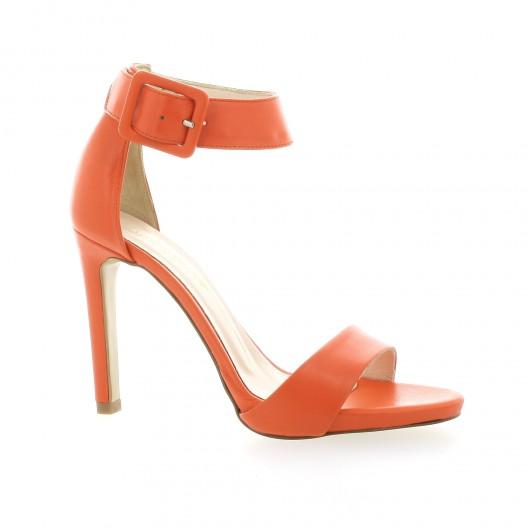 Fremilu Nu pieds cuir orange