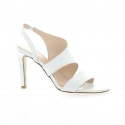 Fremilu Nu pieds cuir blanc