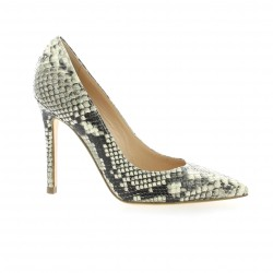 Essedonna Escarpins cuir python naturel