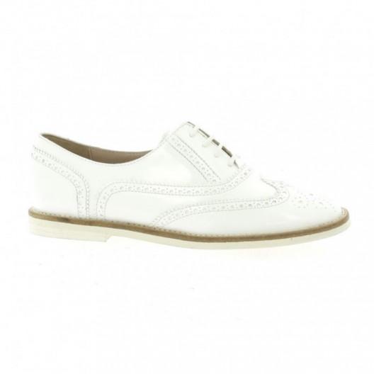derby vidi studio cuir vernis blanc chaussures freddy. Black Bedroom Furniture Sets. Home Design Ideas