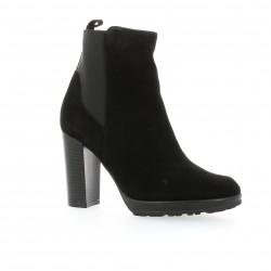 Boots cuir velours noir Elizabeth stuart