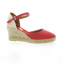 Pao Espadrille toile rouge