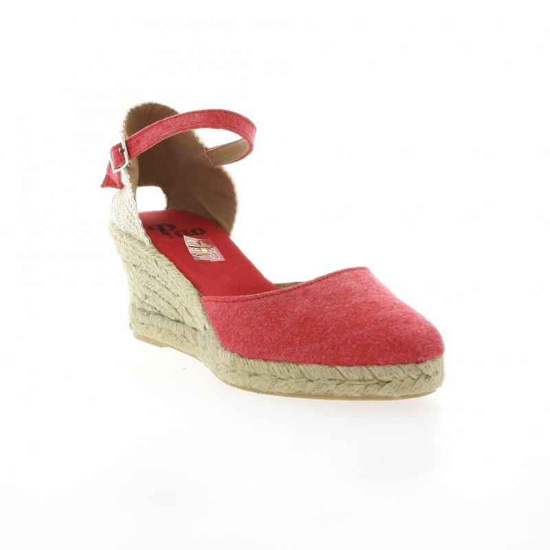 Pao Espadrille Toile Rouge - 37