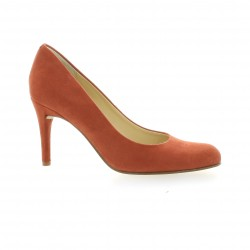 Escarpins cuir velours orange Elizabeth stuart