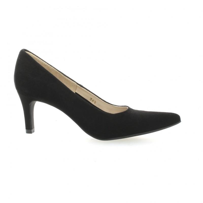 escarpins vidi studio cuir velours noir chaussures filoxa. Black Bedroom Furniture Sets. Home Design Ideas