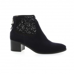 Giancarlo Boots cuir velours marine