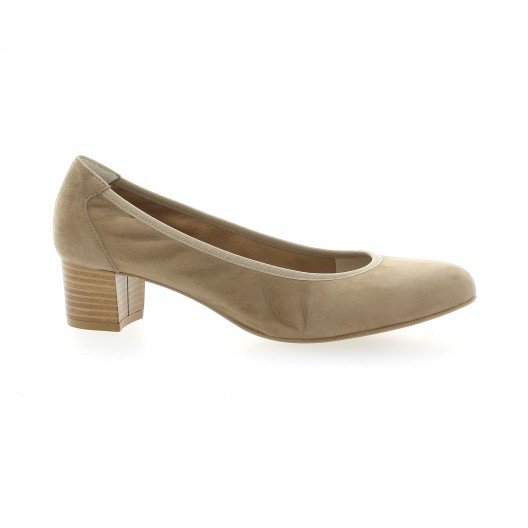 Brenda Zaro Ballerines cuir velours Camel - Chaussures Escarpins Femme