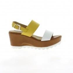 Donna piu Nu pieds cuir jaune