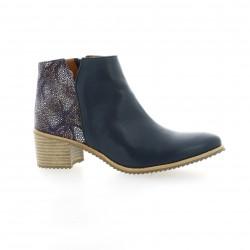 Minka design Boots cuir bleu