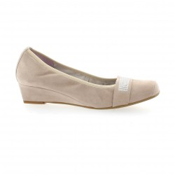 Pao Ballerines cuir velours poudre