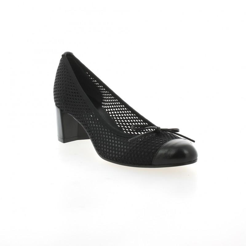 escarpins elizabeth stuart toile noir chaussures nieto 666. Black Bedroom Furniture Sets. Home Design Ideas