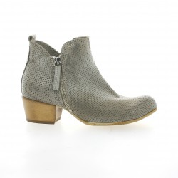 Volpato benito Boots cuir laminé gris
