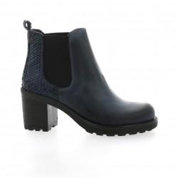 Pao Boots cuir nubuck bleu