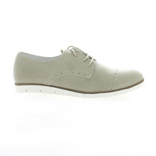 Latina Derby cuir taupe