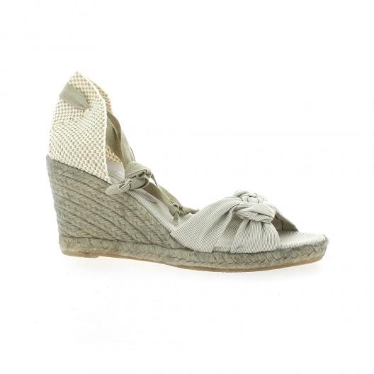 Elizabeth Stuart Espadrille Taupe - Chaussures Espadrilles Femme