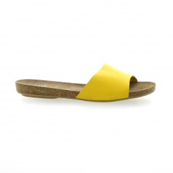 We do Nu pieds cuir jaune