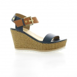 Mariamare Nu pieds cuir bleu
