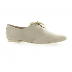 Pao Derby cuir vernis poudre