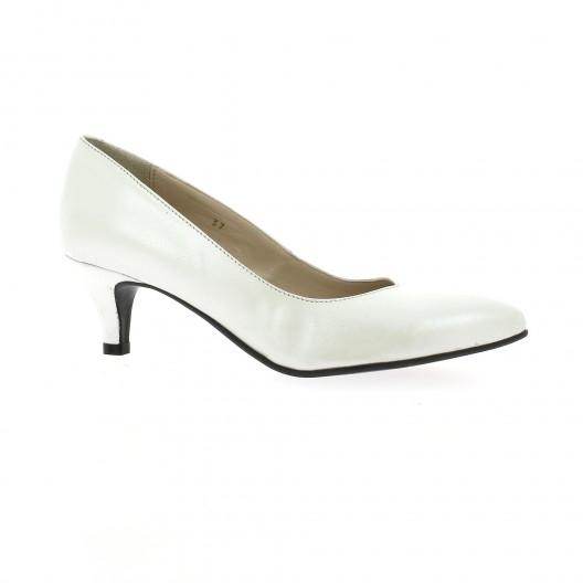 Vidi Studio Escarpins cuir nacré Blanc - Chaussures Escarpins Femme