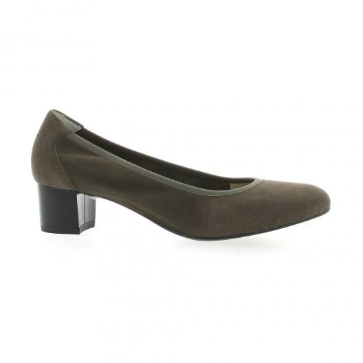 Brenda Zaro Ballerines cuir velours Taupe - Chaussures Escarpins Femme