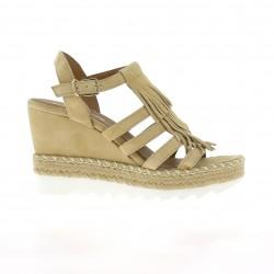 Donna piu Nu pieds cuir velours beige