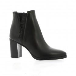 Benoite c Boots cuir noir