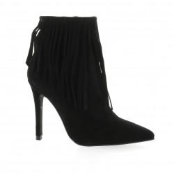 Essedonna Boots cuir velours noir