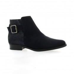 So send Boots cuir velours marine