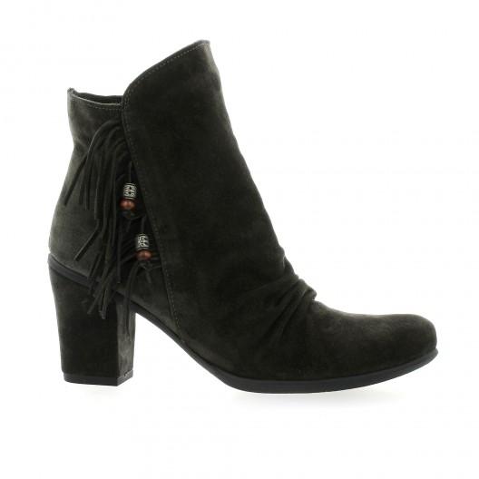 chaussures lune et l 39 autre cuir velours anthracite boots gombo. Black Bedroom Furniture Sets. Home Design Ideas
