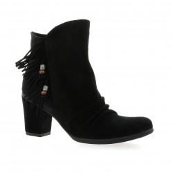 Lune lautre Boots cuir velours noir