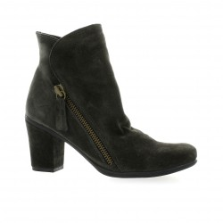 Lune lautre Boots cuir velours anthracite