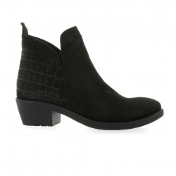 Lune lautre Boots cuir croco anthracite