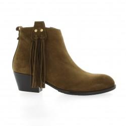 Lune lautre Boots cuir velours camel