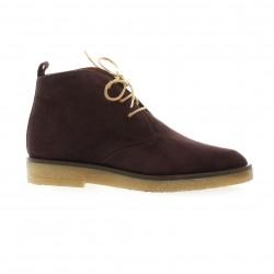 Elizabeth stuart Boots cuir velours bordeaux