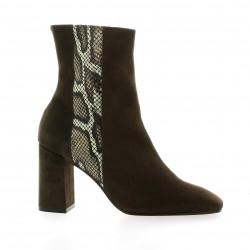 Elizabeth stuart Boots cuir velours vison