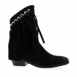 Just juce Boots cuir velours noir