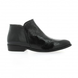 Elysess Boots cuir vernis noir