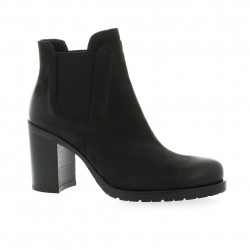 Donna piu Boots cuir nubuck noir