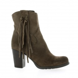 Life Boots cuir velours taupe