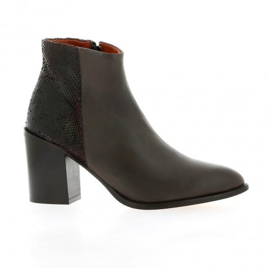 Elizabeth stuart Boots cuir python marron
