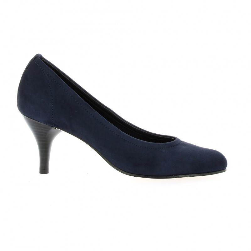 chaussures elizabeth stuart cuir velours marine escarpins hobs. Black Bedroom Furniture Sets. Home Design Ideas