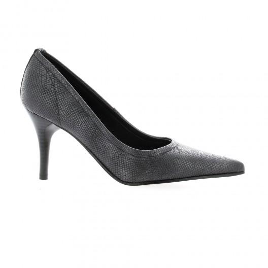 Elizabeth Stuart Escarpins cuir serpent Noir - Chaussures Escarpins Femme