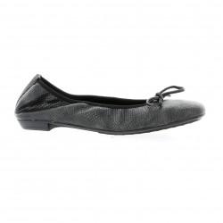 Elizabeth stuart Ballerines cuir python noir