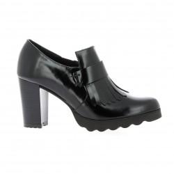 Elysess Low boots cuir glacé noir
