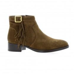 Exit Boots cuir velours vison