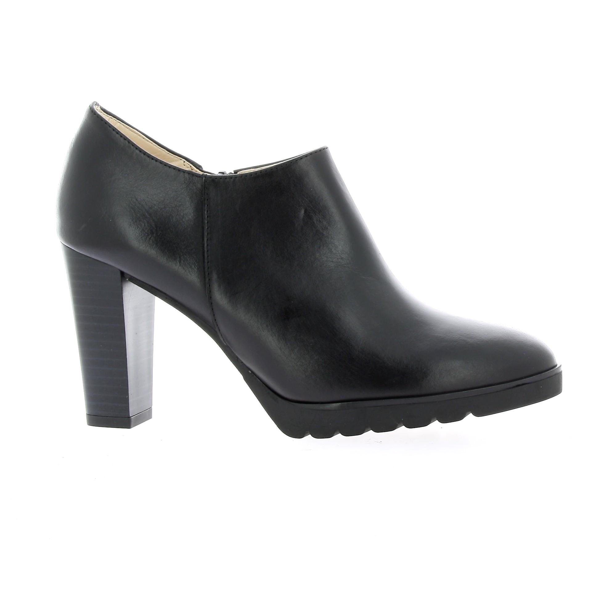 chaussures exit cuir noir low boots cotalia
