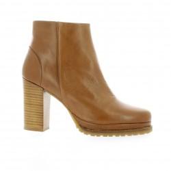 Minka design Boots cuir cognac