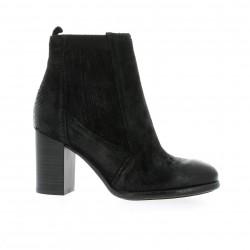 Pao Boots cuir iguane noir