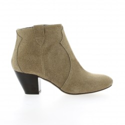Giancarlo Boots cuir velours taupe